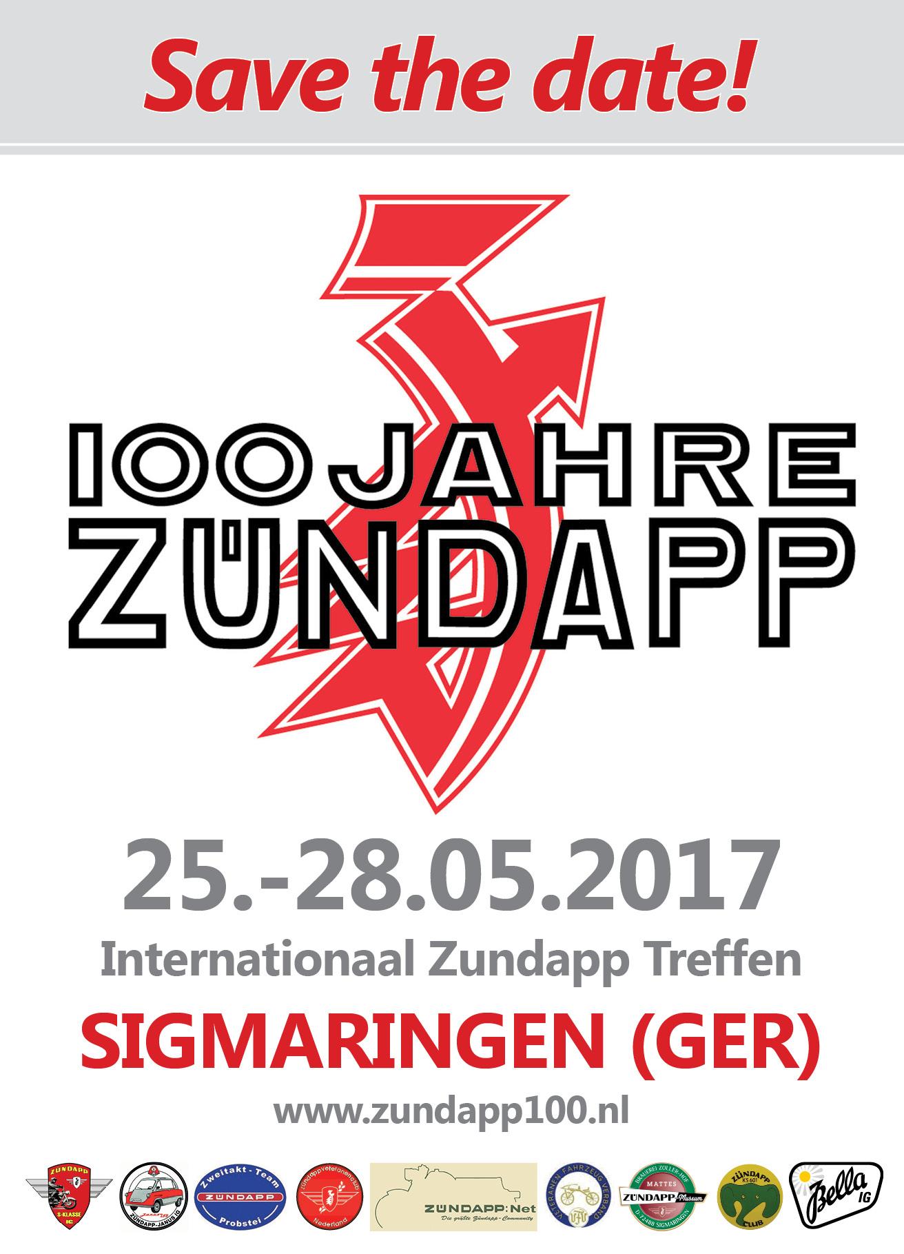 Zundapp 100 Save the Date!