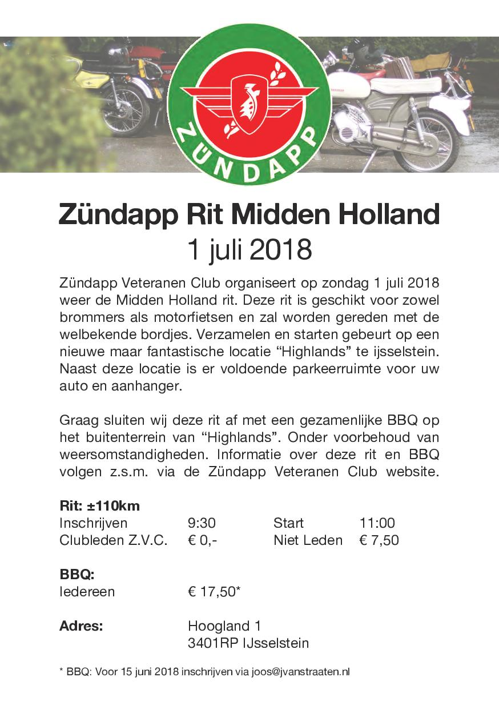Midden Holland rit 2018