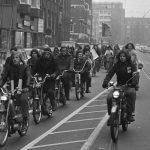 Amsterdams protest tegen bromfiets belasting